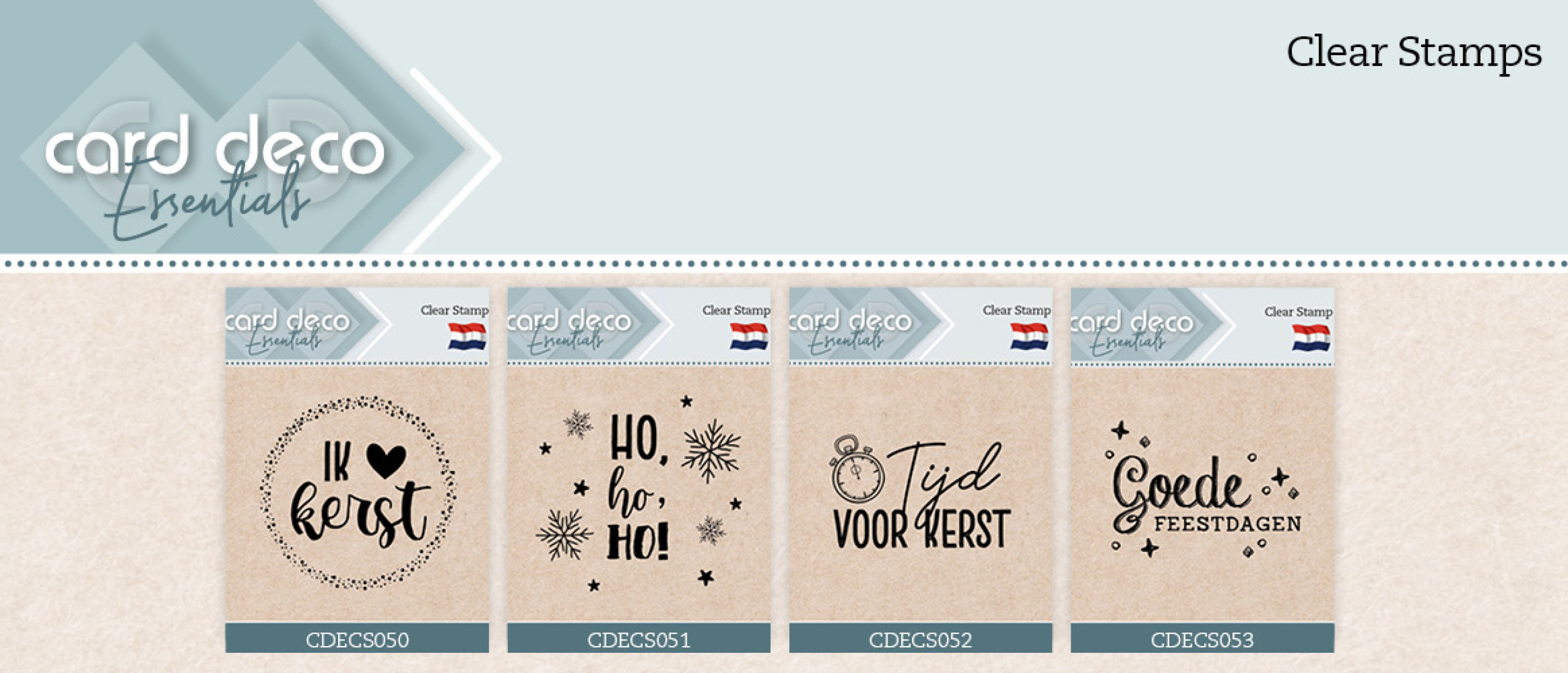 Clear Stamps  CDECD50 t/m CDECD53 Card Deco Essentials