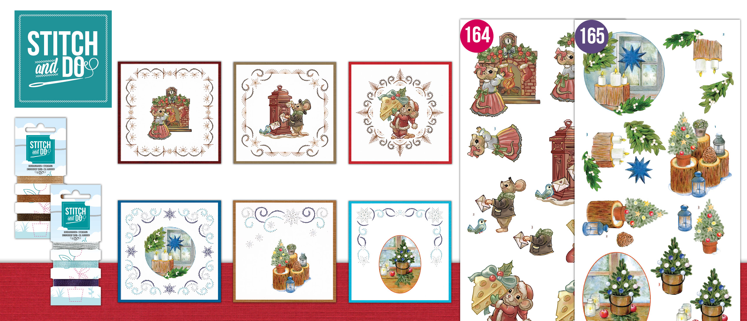 Stitch and Do 164 en 165 Christmas Cottage - Have a Mice Christmas