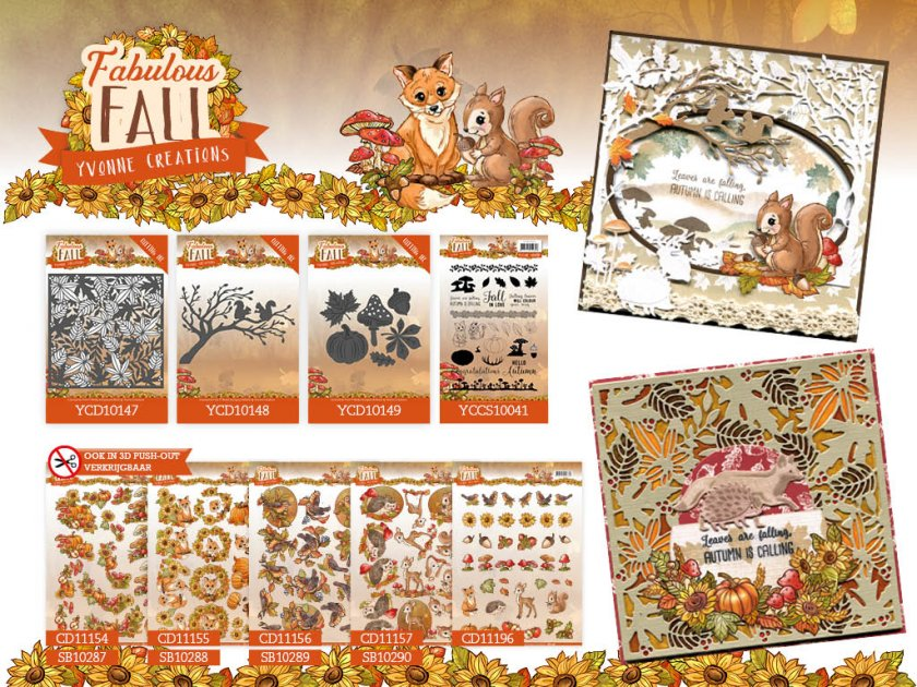 Uitzonderlijk Yvonne Creations Fabulous Fall &WS47