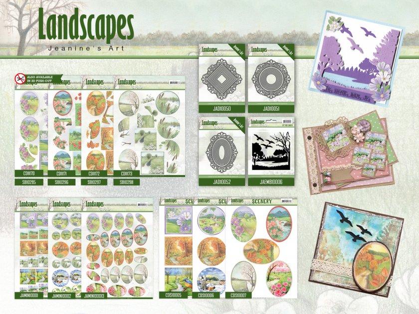 Landscape Ovals Jeanines Art Landscapes Scenery 3D Pushout Sheet