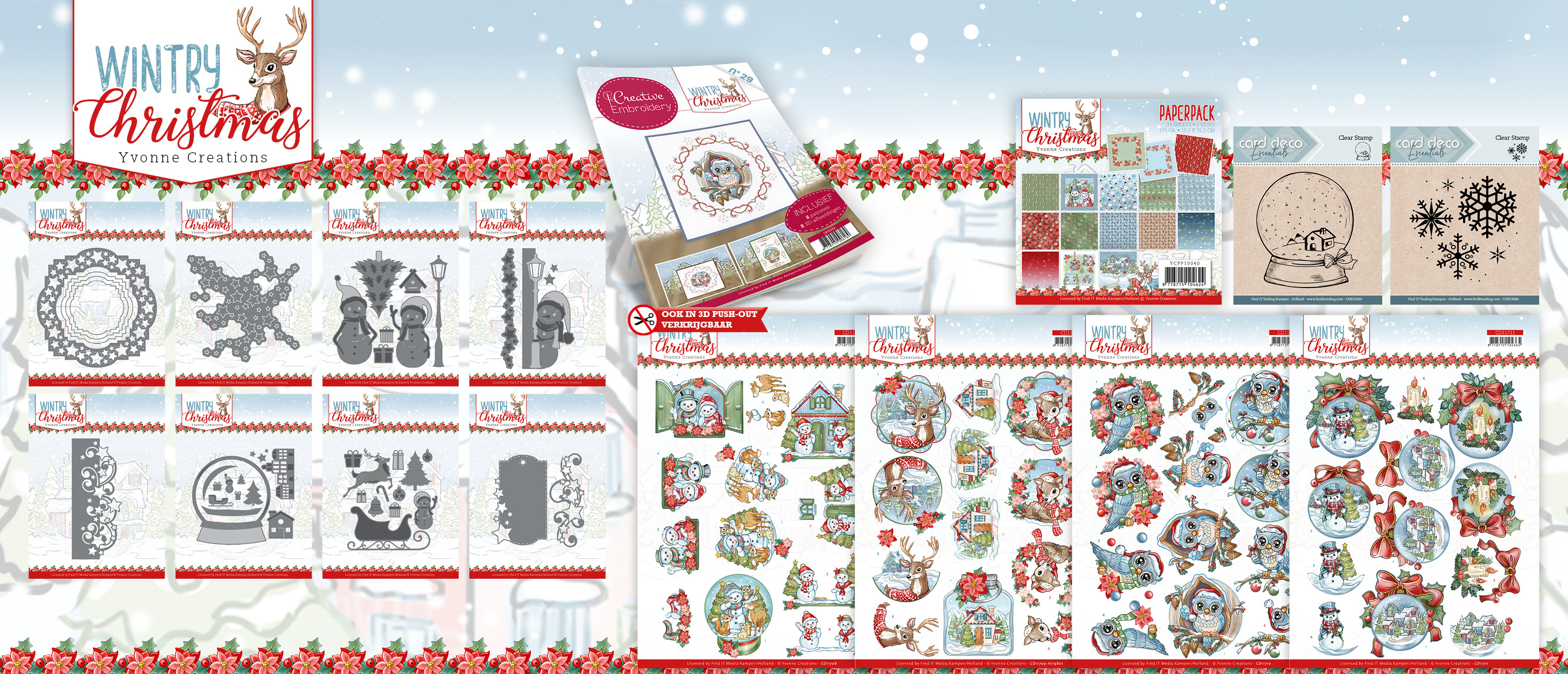 Collectie Wintry Christmas- Yvonne Creations