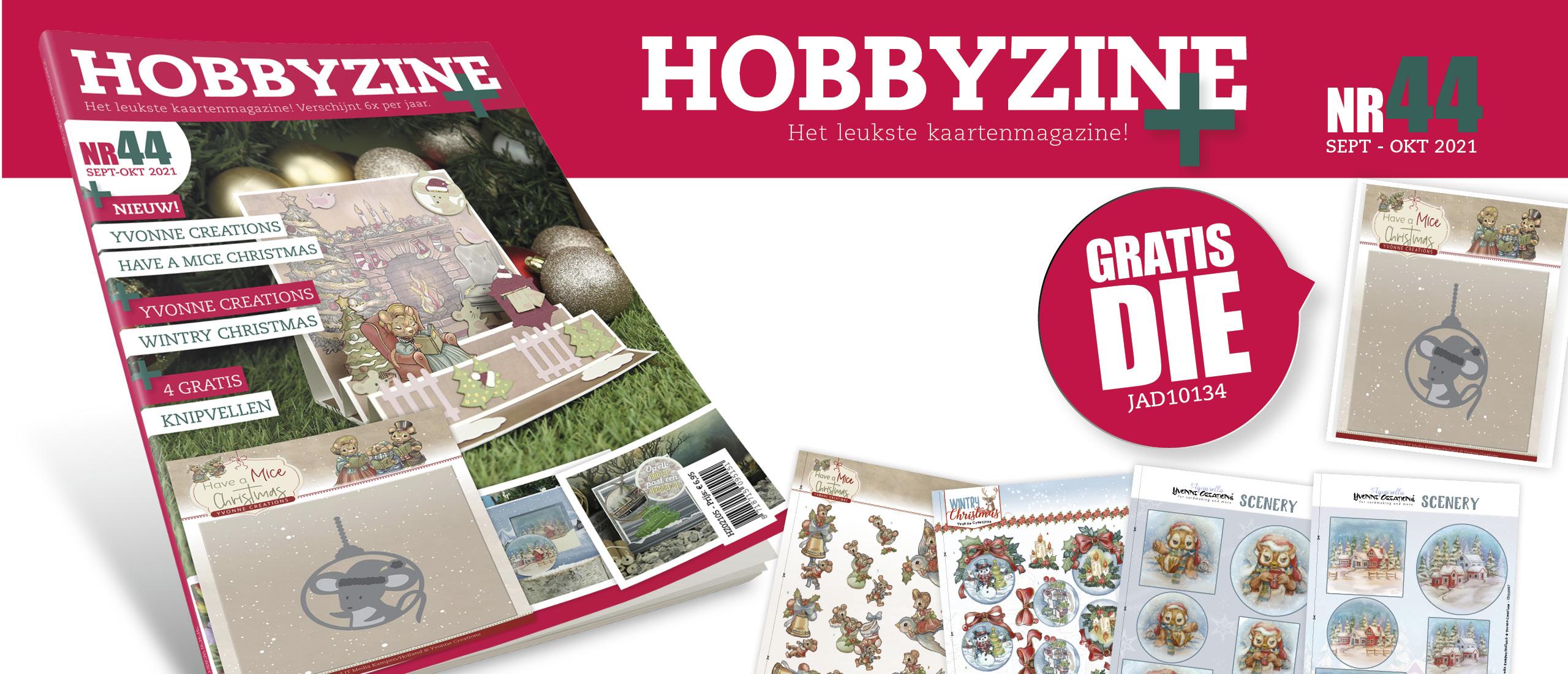 Gratis Die Christmas Mouse Bauble bij Hobbyzine Plus #44