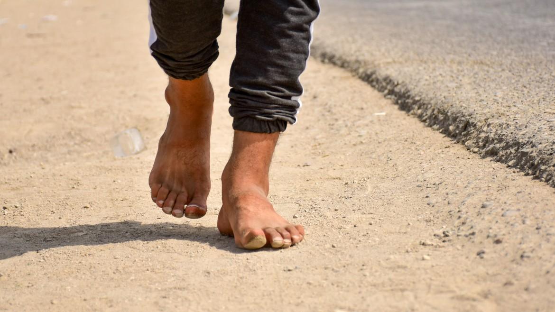 Wandelen op blote voeten