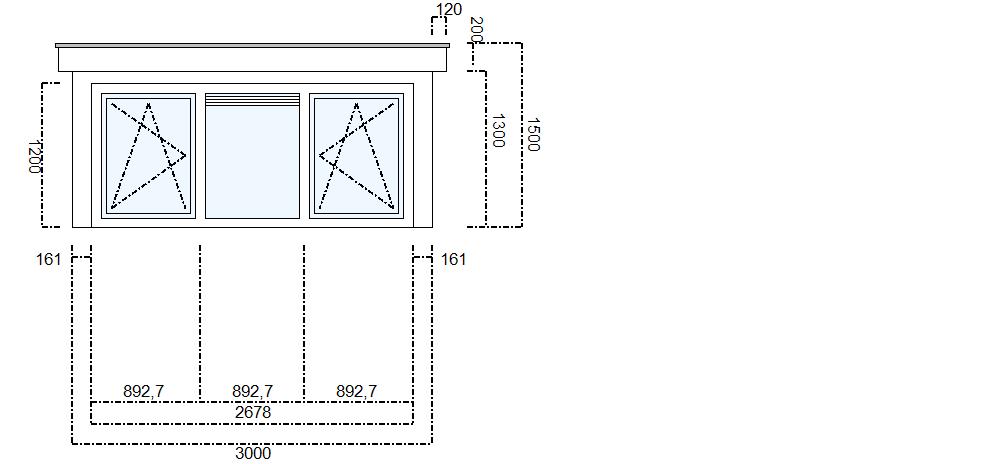 afmeting dakkapel 3 meter