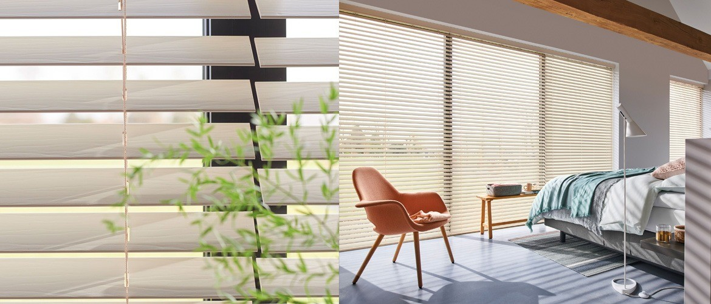De nieuwe collectie houten jaloezieën van Luxaflex