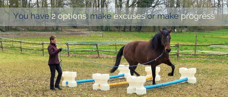Do you make excuses or do you make progress?