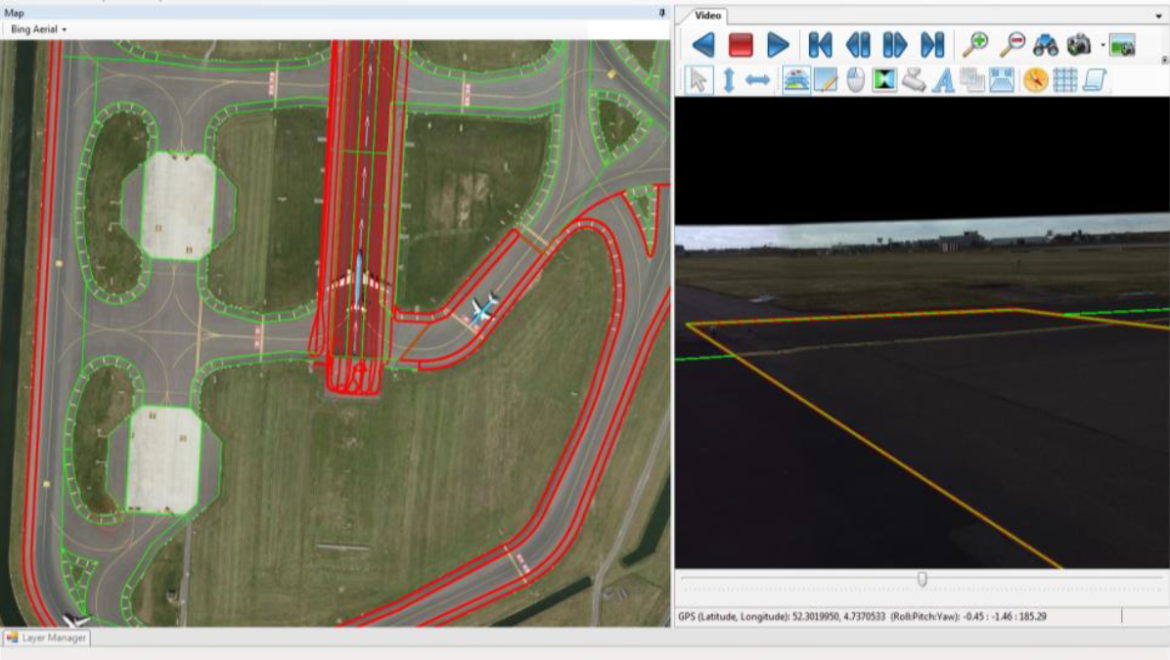 Overview map of video inspection of runways
