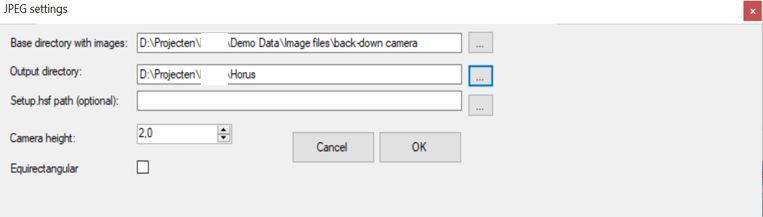 Import Trimble MX9 JPEG data in Horus software