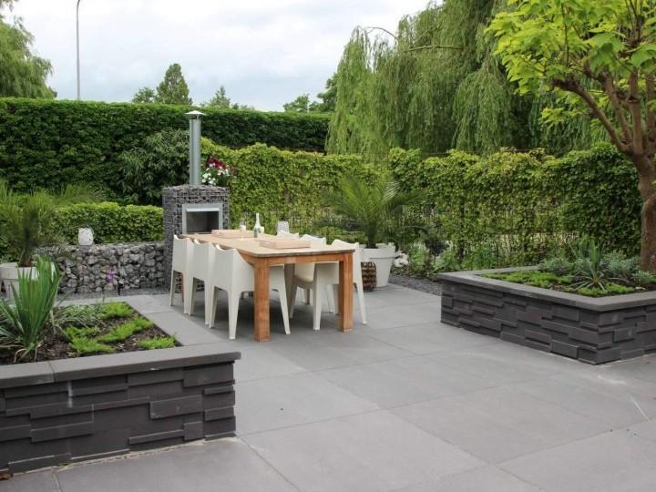 betontegel terras