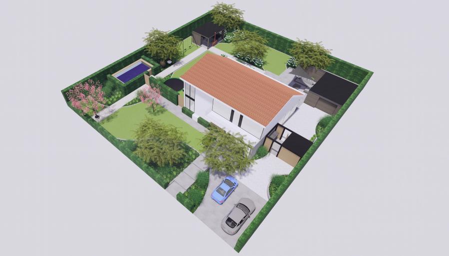 ontwerp van een villatuin