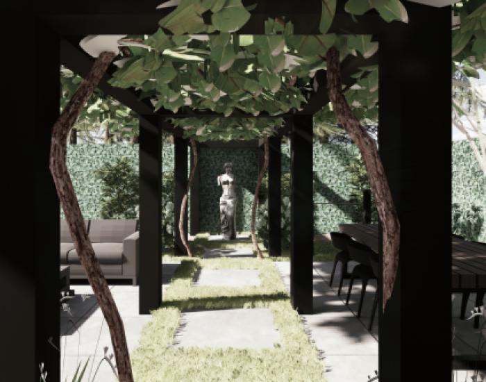 voorbeeld tuintekening van architect