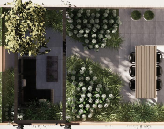 voorbeeld tuinplan