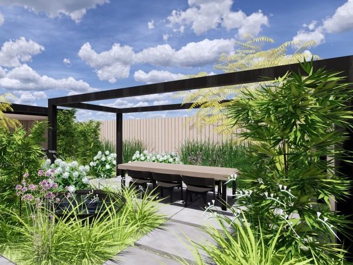 een voorbeeld van een 3d tuinontwerp