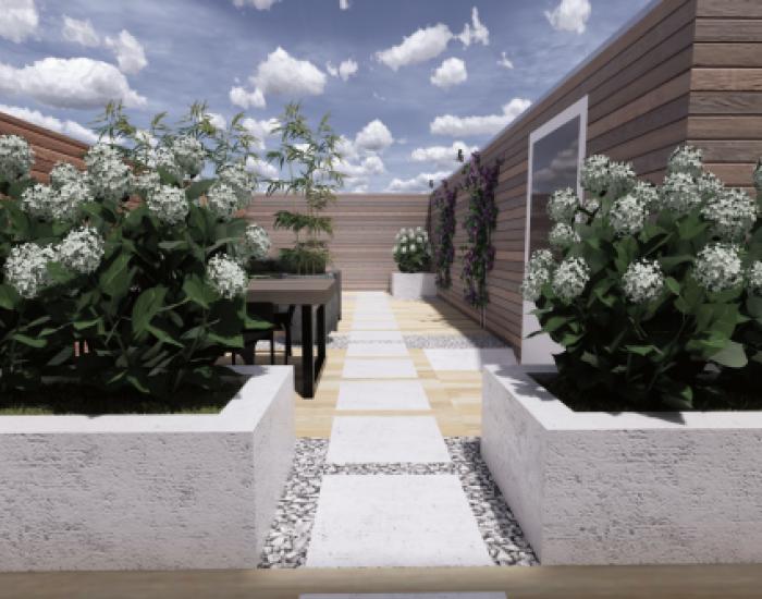 ontwerp voor en achtertuin