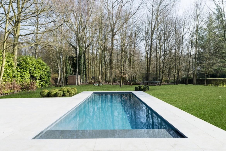 aanleg landelijke tuin met zwembad