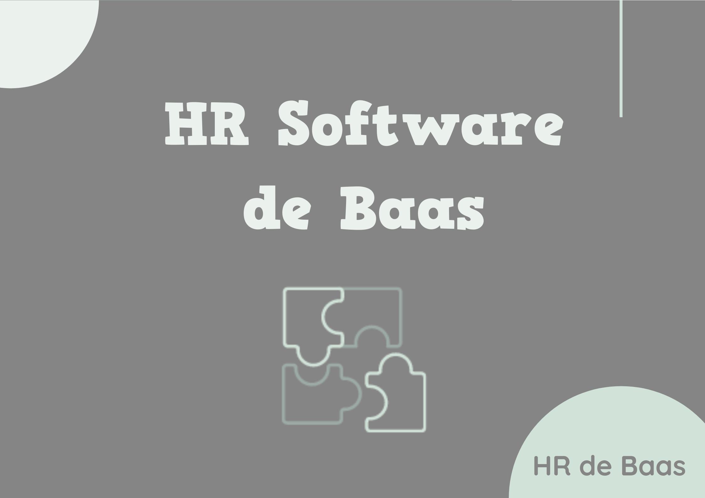 HR software speciaal voor kleine bedrijven