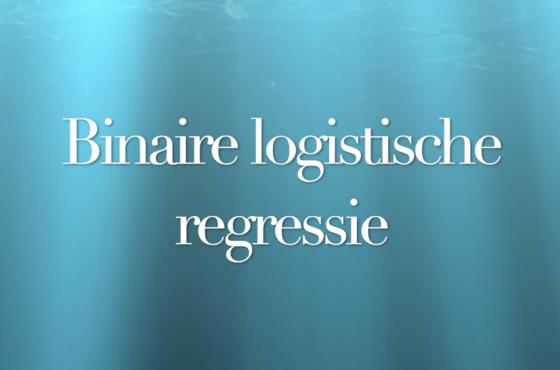 In deze video leer je hoe je een binaire logistische regressie uitvoert