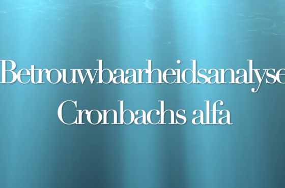 Cronbachs alfa in SPSS