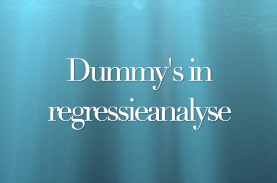 Regressieanalyse met dummy's in SPSS