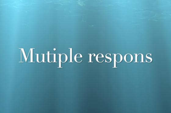Beschrijvende statistiek - Multiple respons