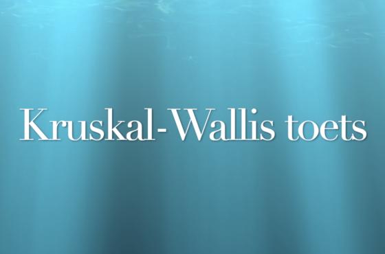 Kruskal-Wallis toets in SPSS