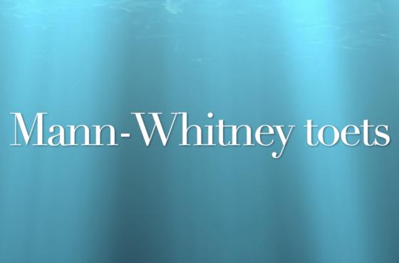 Mann-Whitney toets in SPSS