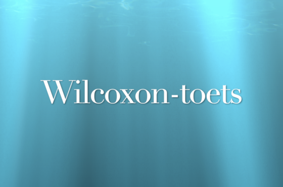 Wilcoxon-toets in SPSS