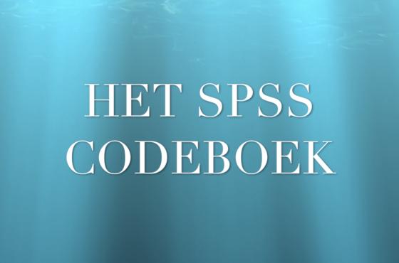Leer het codeboek van SPSS begrijpen