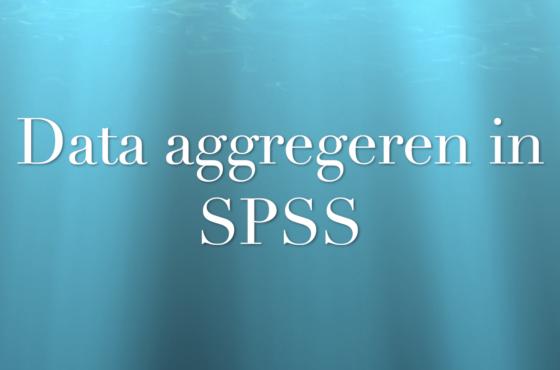 In deze video leer je hoe je data aggregeert in SPSS