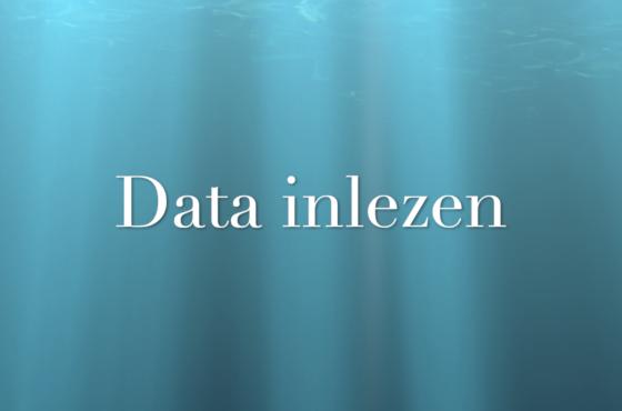 Data in lezen in SPSS