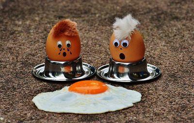 eieren en afvallen