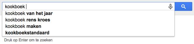google suggest zoekwoord