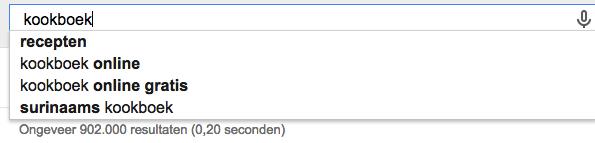spatie bij google suggest