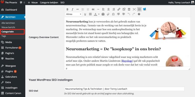 Categorie optimaliseren in WordPress (SEO Handleiding)