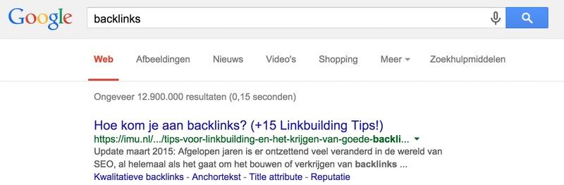 Sitelinks in Google (anchorlinks uit inhoudsopgave)