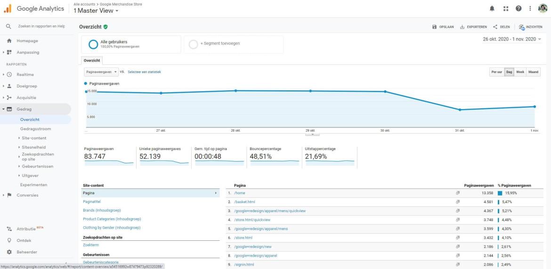 google-analytics-gedrags-rapporten