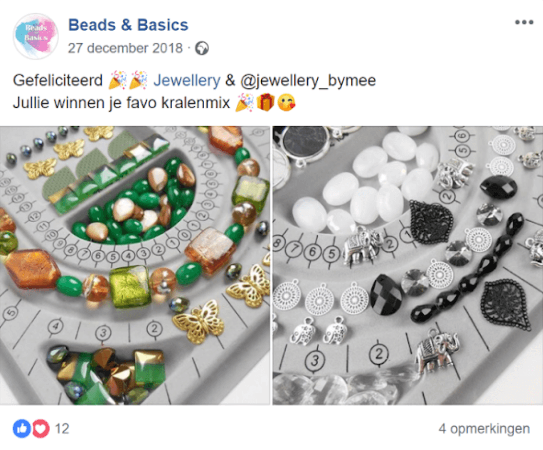 Beads and Basics facebook post