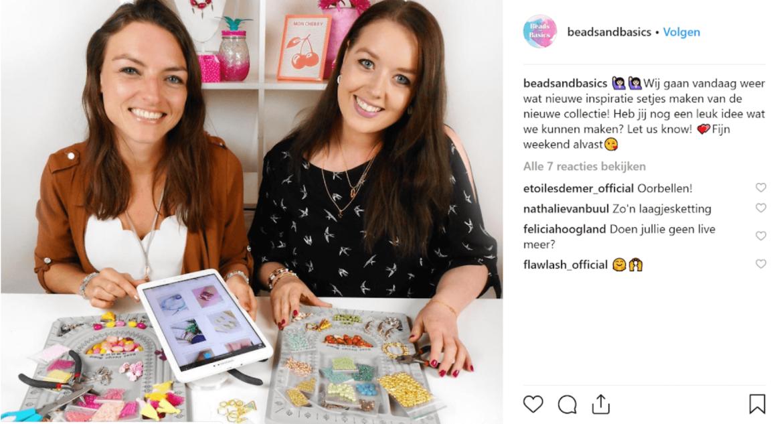 Beads and Basics instagram post