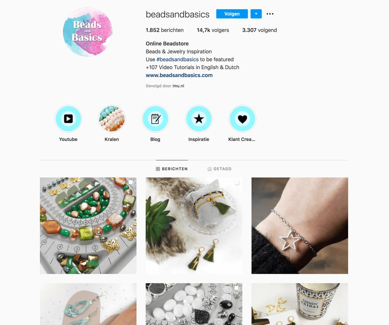 je webshop laten groeien op instagram