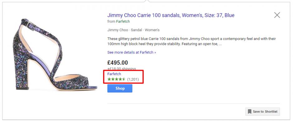 klantbeoordelingen Google Shopping