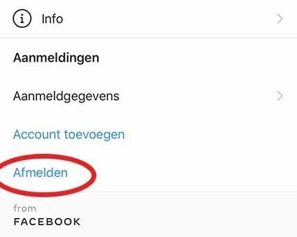 Verwijder je extra account op Instagram: stap 2