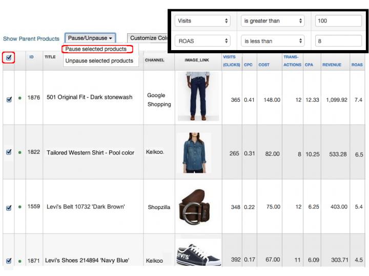 Google Shopping producten uitsluiten