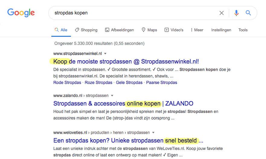 zoekresultaten voor webshops