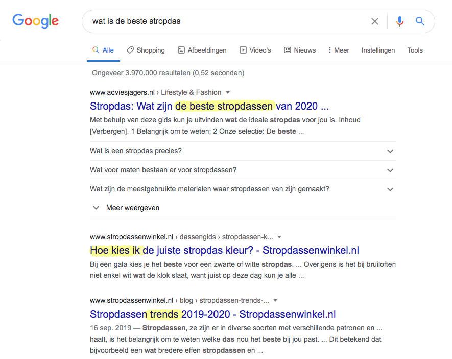 zoekresultaten voor vergelijkings-artikelen