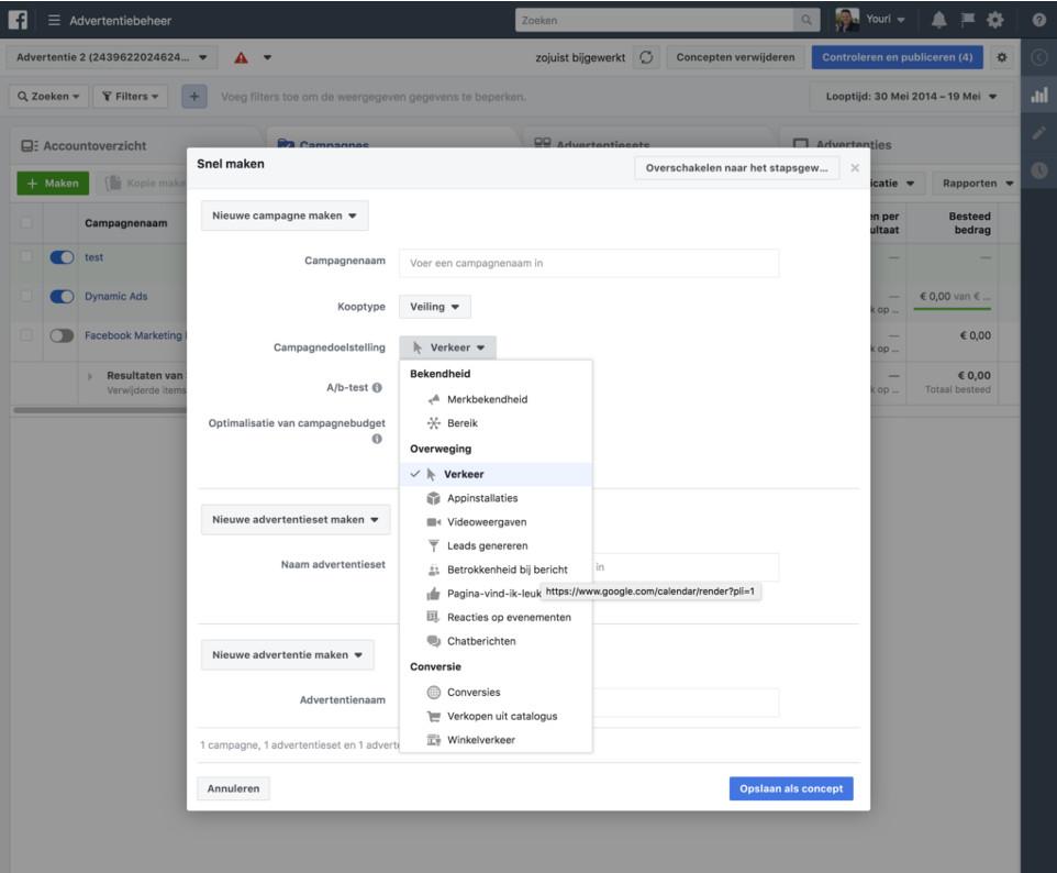 Facebook advertentiecampagne maken