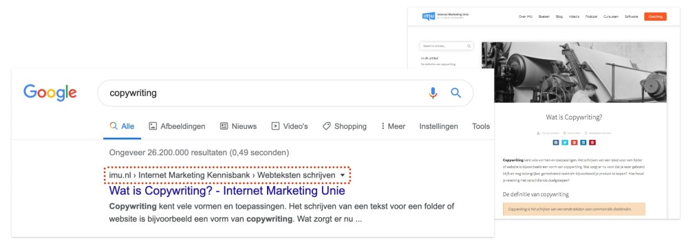 Scoren in Google met kennisbank