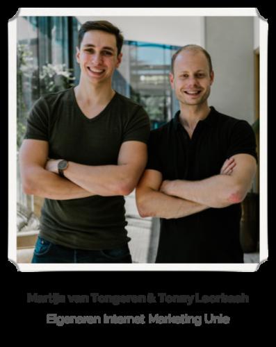 Martijn van Tongeren en Tonny Loorbach