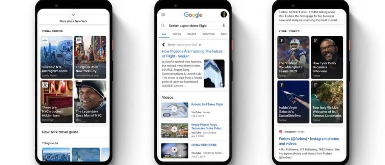Web Stories komen naar Google Discover