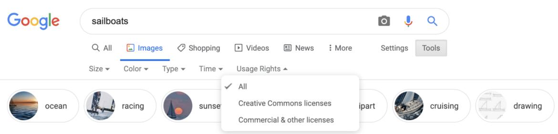 Nieuwe Google gebruikersrechten voor afbeeldingen