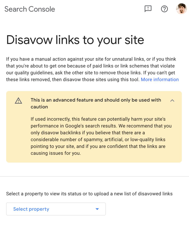 Link disavow tool nieuw